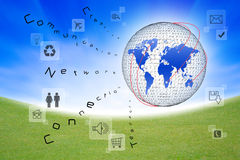 Social network and communication i Stock Photo