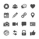 Social network communication icon set, vector eps10 Stock Photos