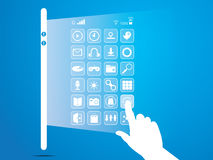Social network, communication,smart phone Royalty Free Stock Image