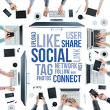 Social network community Royalty Free Stock Photography