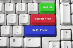 Social Network Concept. Computer Keyboard and Social Network Concept Royalty Free Stock Image