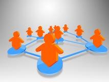 Social Network concept. 3d social network community  team Royalty Free Stock Photos