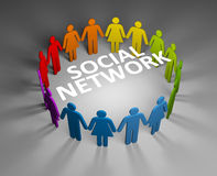 Social network concept Stock Photos