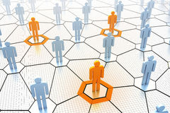 Social network concept. 3d render of social network concept Royalty Free Stock Photo