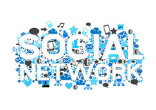 Social Network Concept royalty free illustration