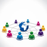 Social Network concept Stock Image