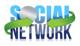 Social network concept Royalty Free Stock Photography