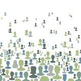 Social network concept background Stock Images