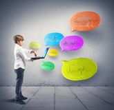 Social network concept Stock Photography
