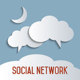 Social network. Concept for cloud computing, social network and social media Royalty Free Stock Images
