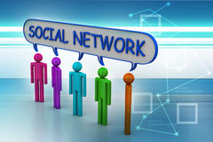 Social network concept Stock Images