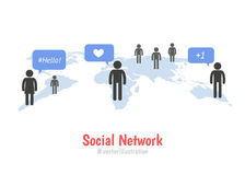 Social network concept Royalty Free Stock Photos