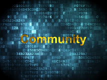Social network concept: Community on digital Stock Image
