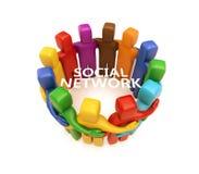Social network concept Stock Photography