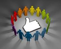 Social network concept stock illustration