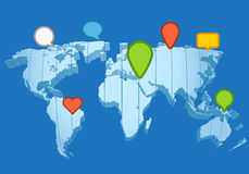 Social network concept. The Earth map Stock Image