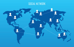 Social network concept. Royalty Free Stock Photo
