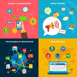 Social  Network Concept Icons Set Royalty Free Stock Photo