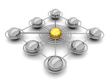 Social network - concept illustration Royalty Free Stock Image