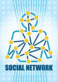 Social Network concept. Stock Images