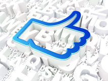 Social network concept: Like on alphabet background Royalty Free Stock Image