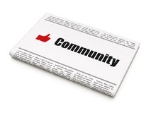 Social network concept: newspaper with Community Royalty Free Stock Photo