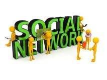 Social network concept over white Stock Images