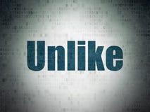 Social network concept: Unlike on Digital Data Paper background. Social network concept: Painted blue word Unlike on Digital Data Paper background Stock Photography