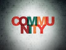 Social network concept: Community on Digital Data Paper background Royalty Free Stock Photography