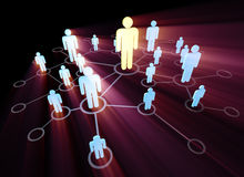 The social network concept with pictorial people. Social network concept with pictorial people stock illustration