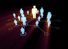 The social network concept with pictorial people. Social network concept with pictorial people royalty free illustration