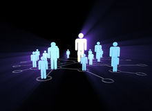 The social network concept with pictorial people. Social network concept with pictorial people vector illustration