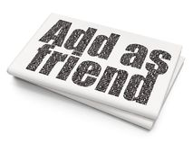 Social network concept: Add as Friend on Blank Newspaper background Royalty Free Stock Photos