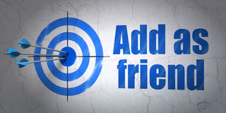 Social network concept: target and Add as Friend Stock Photos