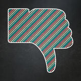 Social network concept: Thumb Down on chalkboard background Stock Photography