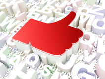 Social network concept: Thumb Up on alphabet Stock Photo