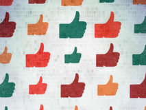 Social network concept: Thumb Up icons on Digital Royalty Free Stock Photography