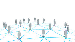 Social Network concept on white background Royalty Free Stock Photos
