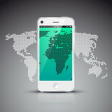 Social network concept with world map Royalty Free Stock Photos