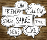 Social Network Concepts in Speech Bubbles Royalty Free Stock Photo