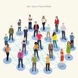 Social network conceptual illustration Stock Images