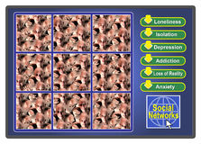 Social Network Conflicts Stock Image