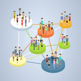 Social Network Connection Communication People Group Royalty Free Stock Images
