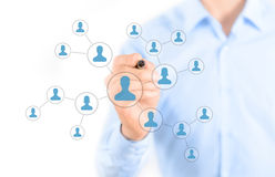 Social Network Connection Concept Stock Images