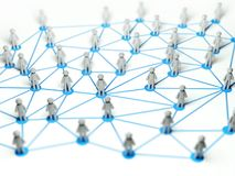 Social network connection concept ,3d illustration Royalty Free Stock Image