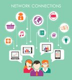 Social network connection concept Royalty Free Stock Images
