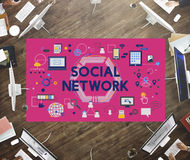 Social Network Connection Digital Communication Concept Royalty Free Stock Images