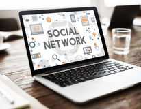 Social Network Connection Digital Communication Concept Royalty Free Stock Photography