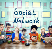 Social Network Connection Global Communications Concept royalty free stock photo