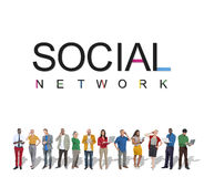 Social Network Connection Internet Technology Concept Royalty Free Stock Photography